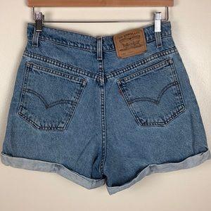 Vintage Levi's Orange Tab High Rise Shorts